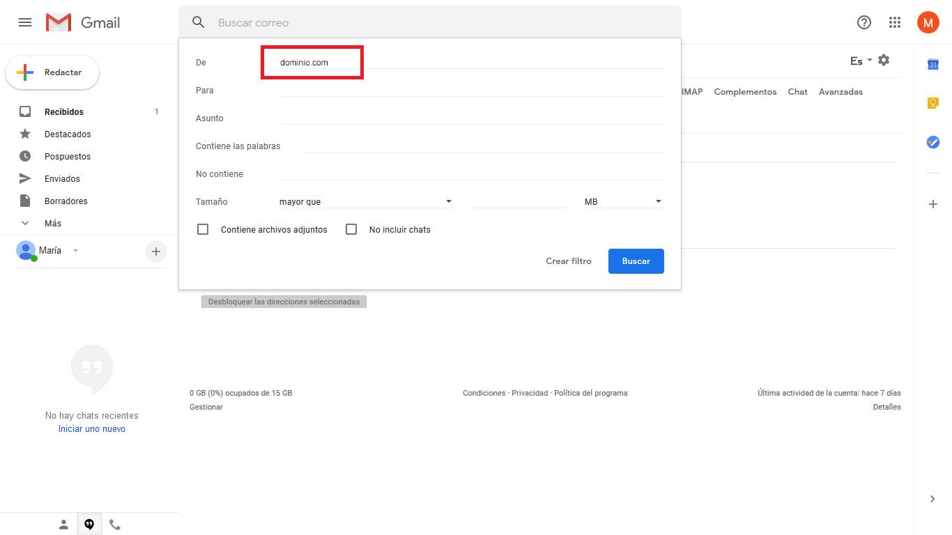 Gmail filtros